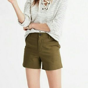 Madewell // High Rise Twill Shorts